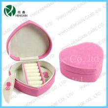 lovely pink heart-shape small Jewelry Case