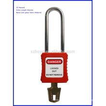 Candado de seguridad con grillete de acero largo (76 mm de longitud 6 de diámetro)