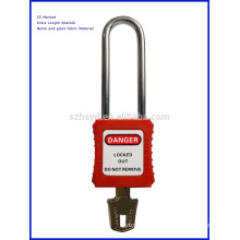 Safety Padlock with Long Steel Shackle (76mm length 6 diameter )