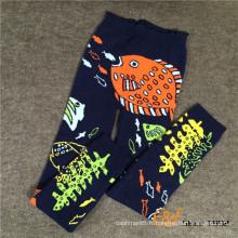 Pantalons de haute qualité mélangés de fil de femmes de leggings chauds