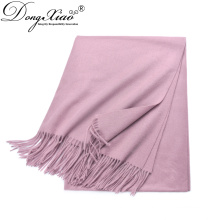 Fashion Ladies 100% Cashmere Pashmina Hijab Shawl Scarf From China Factory