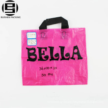 wholesale high quality manufacturer custom soft loop handle polyethylene PE plastic shopping bag