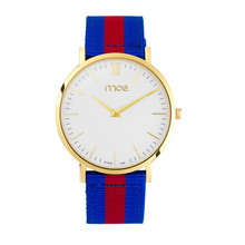 trend nylon strap quartz wrist watch mininalist design