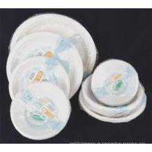 Einweg-Papier Zellstoff Geschirr Papier Schüssel Papierplatte