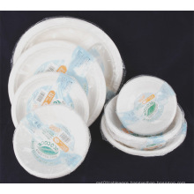 Disposable Paper Pulp Tableware Paper Bowl Paper Plate