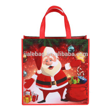 Beautiful christmas custom print gift carried shopping bags