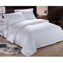 Plain gefärbtes weißes Hotel 100 Baumwollbettwäsche