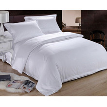 100 cotton pure white hotel use good hand feeling bed cover set