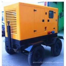Générateur de diesel silencieux mobile