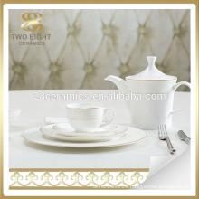 Italian porcelain gold rim dinner dinnerware set