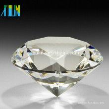 Decoración del hogar de la boda del pisapapeles de cristal del diamante del corte del diamante