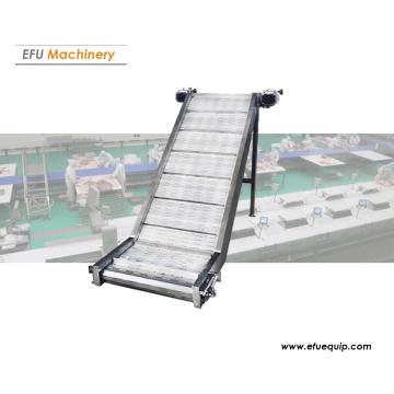 Inclined mesh belt conveyor