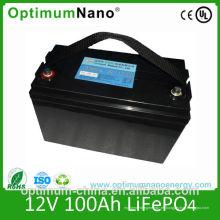 Batería recargable de ciclo profundo 12V 100ah LiFePO4