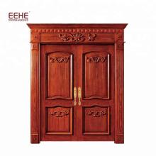 главная дверь внешняя двойная дверь дизайн тик твердая деревянная дверь