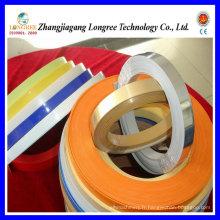 Ligne d'extrusion de bande de chant de bord de PVC haute brillance, machine de bande de bordure de grain en bois et chaîne de production de bande de bordure de couleur solide