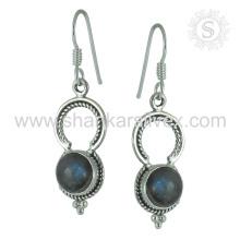 New Arrivalspectacular Labradorite Gemstone Earring 925 Sterling Silver Atacado Jóias Jaipur Handmade Online Silver Jewelry