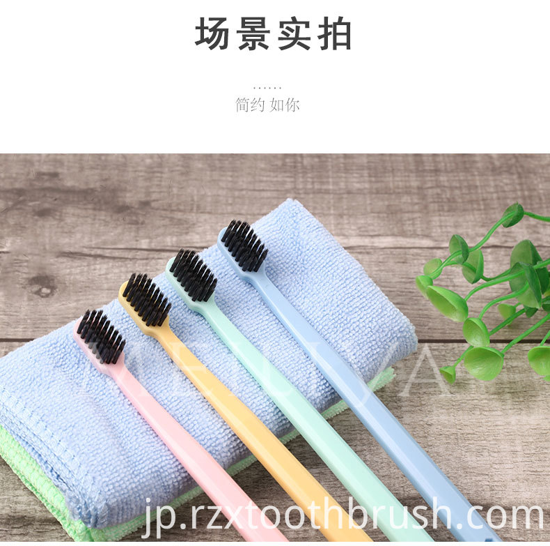 Bamboo Charcoal Soft Toothbrush