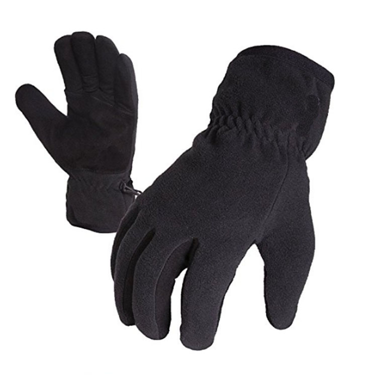 Black Professional Climbing Gloves