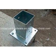 Placa de ancoragem de PVC revestida / galvanizada, placa de aço, placa de pólo
