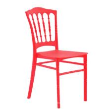 Por atacado barato napoleon empilhável de plástico ao ar livre de casamento banquete cadeira de jantar