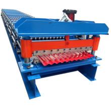 Rouleau ondulé de panneau de toit formant la machine