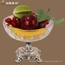 Décoration de décoration de Noël en verre bac à fruits plaque de fruits en verre de qualité
