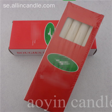 Gambia Market Paraffin Wax White Long Candles