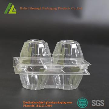 Clear rectangulaire plateau à oeufs en plastique transparent