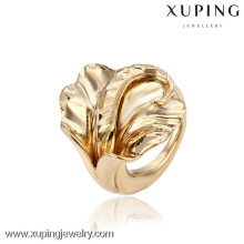 12866 China Wholesale Xuping Fashion Elegant 18K oro anillo de la mujer de la perla