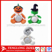 Pumpkin and ghost plush night light toy for Halloween
