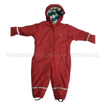 Sólido rojo con capucha PU mono