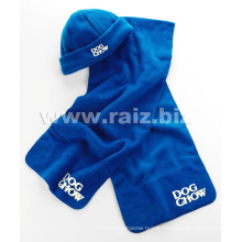 Polar Fleece Promotion Items Scarf and Hat Set