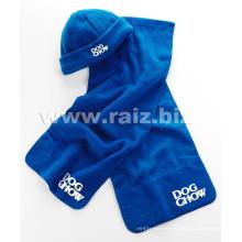 Polar Fleece Promoção Itens Scarf and Hat Set