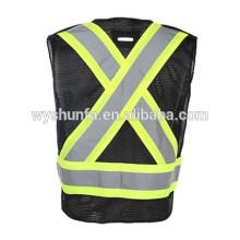 ENISO20471 & ANSI/ISEA 107-2010 Class 2 reflective heat transfer printing logo vest