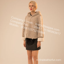 Winter korte Merino Shearling jas voor Lady