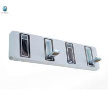 Установленный стеной белый и хром латунь душевая комната полотенце крюк вешалки