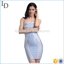 Western design with Chinese elements wrap dress fitness bandage wholesale dress