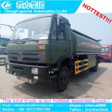 Carro de transporte de 16000liters combustible petrolero ejército verde 4 X 2 Diesel