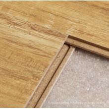 Plancher stratifié par 12 carrés de noyer sauvage de finition de cristal de 12mm