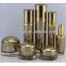 Cuadrado de forma acrílica de lujo crema jarras para embalaje de cosméticos