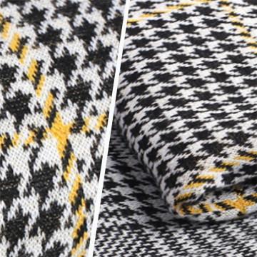 Plover Case Grain Polyester Spandex Knitting Jacquard Fabric
