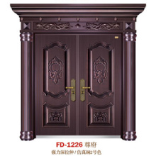 China Puerta de entrada del proveedor de puerta de acero Puerta de puerta de metal del hierro (FD-1226)