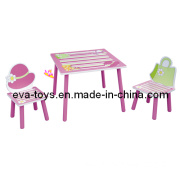 Beautiful Design Kid Study Desk and Chairs (W08G015)