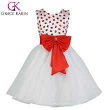 2015 Grace Karin Sleeveless Cheap Flower Girl Dress White CL007551-1