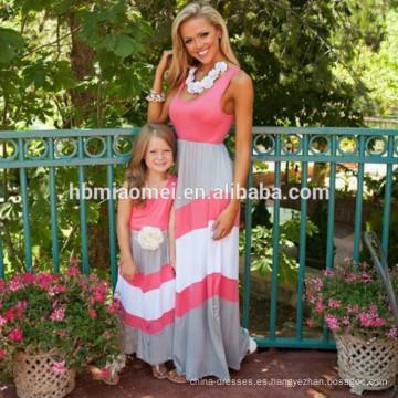 al por mayor Vestido de mamá y yo, la moda y el precioso vestido boutique de ropa de madre y niño sin mangas
