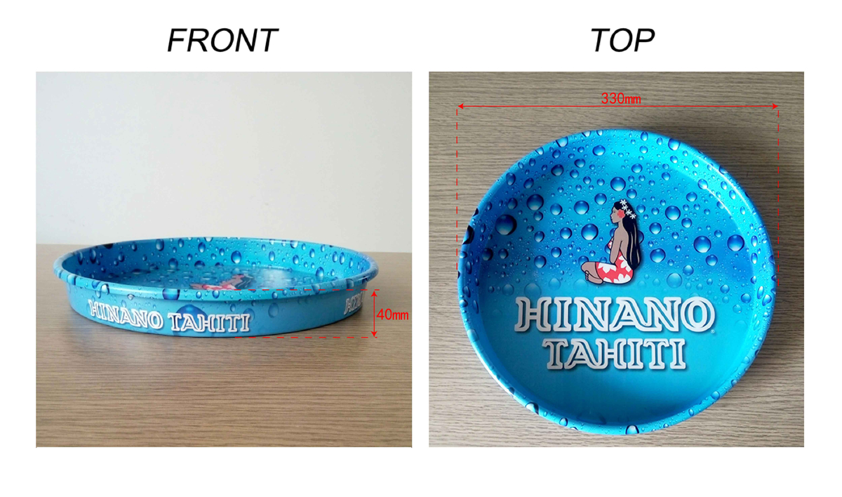Anti-slip tin tray