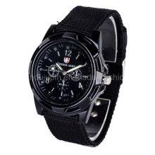 Relógio de quartzo de pulso de metal de esporte de OEM com pulseira de malha