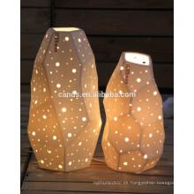 Lámpara de mesa hecha a mano de material cerámico