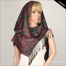 Jacquard Pashmina Winter shawl FY150723-04
