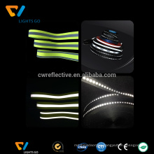 hi vis glow in the dark reflective elasticated elastic tape